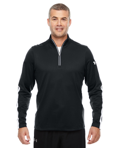 Under Armour Quarter Zip Sweater - Men's - Under Armour Men's Black Front
