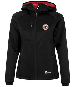Two-Tone Polyester Fleece Hooded Zip Up - Ladies