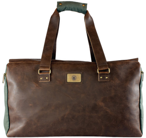 Vegan Leather & Canvas Duffle